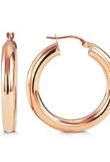 10K Rose Gold 29mm Hoop Earrings