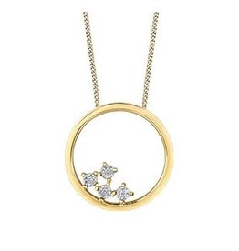 10K Yellow Gold (0.02ct) Diamond Contemporary Pendant