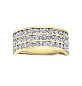 10K Yellow Gold (0.50ct) Diamond Wide Band Channel Set Ring