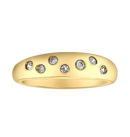 10K Yellow Gold (0.15ct) Diamond Dome Ring