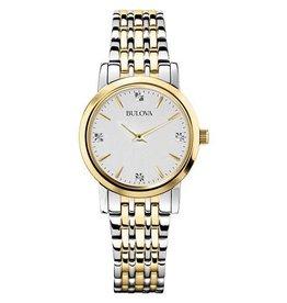 Bulova Bulova Classic Ladies Two Tone Diamond Dial Watch