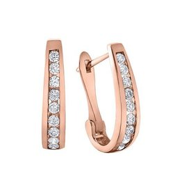 10K Rose Gold (0.25ct) Diamond Lever Back Earrings