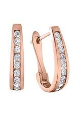 10K Rose Gold (0.50ct) Diamond Lever Back Earrings