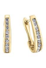 10K Yellow Gold (0.15ct) Diamond Lever Back Earrings