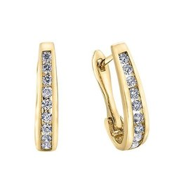 10K Yellow Gold (0.15ct) Diamond Lever Back Earrings