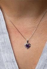 Forever Jewellery 10K White Gold Diamond and Amethyst Pendant