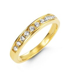 10K Yellow Gold Stackable CZ Ring