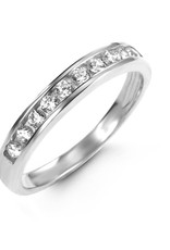 10K White Gold Stackable CZ Ring