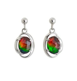 Korite Korite Rosalind Ammolite Sterling Silver Dangle Earrings