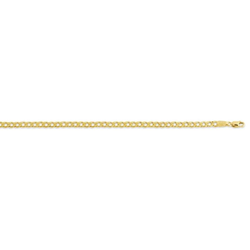 "10K Yellow Gold (4.4mm) Hollow Curb Bracelet 7.5"""