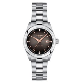 Tissot Tissot T-My Lady Automatic Silver Tone Diamond and Black Dial Watch