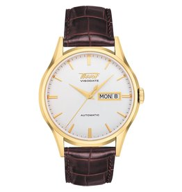 Tissot Tissot Heritage Visodate Automatic Men's Gold Tone  Brown Leather Strap Watch