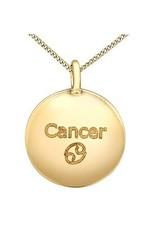 10K Yellow Gold Diamond Cancer Zodiac Pendant