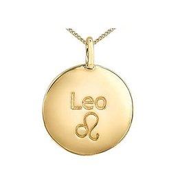 10K Yellow Gold Diamond Leo Zodiac Pendant