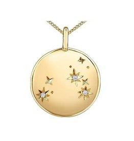 10K Yellow Gold (0.009ct) Diamond Leo Zodiac Pendant