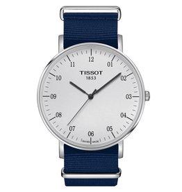 Tissot Tissot Everytime Large Nato Men's Silver Tone Blue Fabric Strap Watch