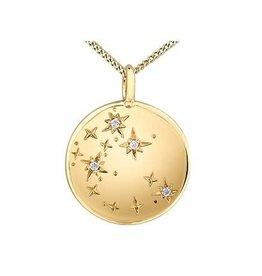 10K Yellow Gold (0.012ct) Diamond Sagittarius Zodiac Pendant