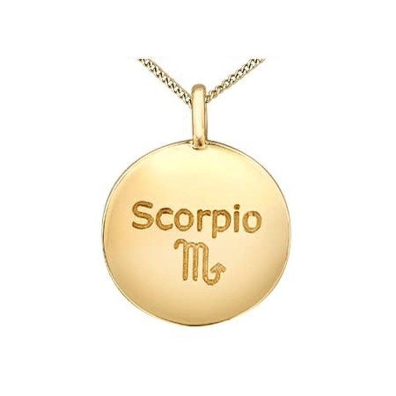 10K Yellow Gold Diamond Scorpio Zodiac Pendant