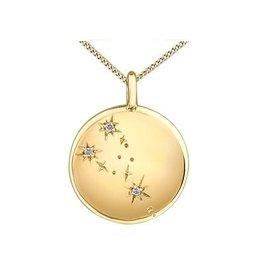 10K Yellow Gold Diamond Taurus Zodiac Pendant