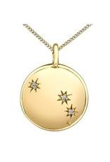 10K Yellow Gold Diamond Aries Zodiac Pendant