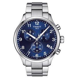 Tissot Tissot Chrono XL Classic Men's Silver Tone Blue Dial Watch