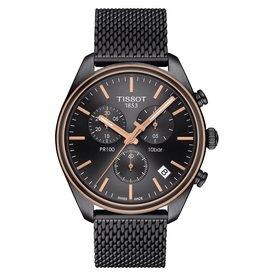 Tissot Tissot PR 100 Chronograph Men's Gray Tone Gray Dial Mesh Strap Watch
