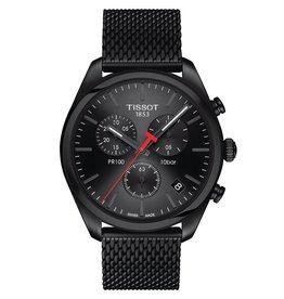 Tissot Tissot PR 100 Chronograph Men's Black Tone Black Dial Mesh Strap Watch