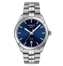 Tissot Tissot PR 100 Men's Silver Tone Blue Dial Watch