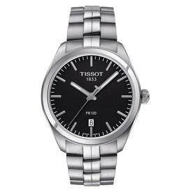 Tissot Tissot PR 100 Men's Silver Tone Black Dial Watch