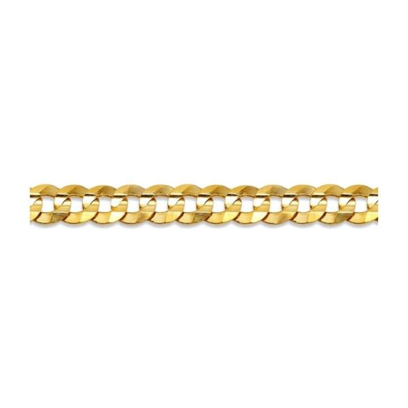 """10K Yellow Gold (4.5mm) Curb Chain (20"""" - 24"""")"""
