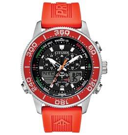 Citizen Citizen Promaster Sailhawk Men's Eco Drive Silver Tone Orange Strap Watch