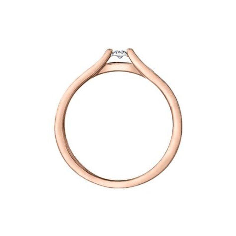 10K Rose and White Gold (0.10ct) Diamond Ring