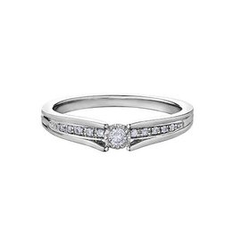 10K White Gold (0.10ct) Diamond Ring