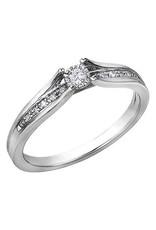 10K White Gold (0.10ct) Diamond Ring