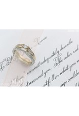 10K Yellow and White Gold (0.10ct) Diamond Ring
