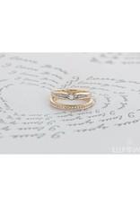 10K Yellow Gold (0.10ct) Diamond Illusion Set Ring