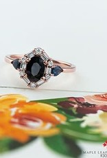 10K Rose Gold Sapphire and Diamond Ring
