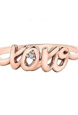 10K Rose Gold Diamond XOXO Script Ring