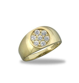 10K Yellow Gold Men's Cubic Zirconia Ring
