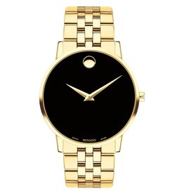 Movado Movado Museum Classic Men's Gold Tone Black Dial Watch