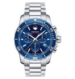 Movado Movado Series 800 Men's Chronograph Silver Tone Blue Dial Watch