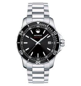 Movado Movado Series 800 Men's Silver Tone Black Dial Watch