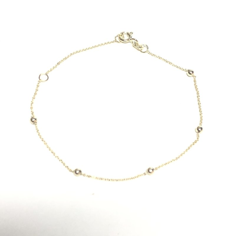 10K Yellow Gold (2.5mm) Rolo Beaded Bracelet