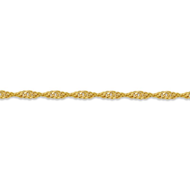 "10K Yellow Gold (1.7mm) Singapore Ankle Bracelet 10"""