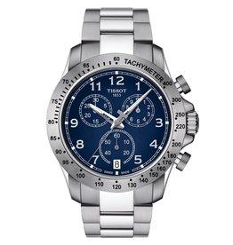 Tissot Tissot V8 Men's Chronograph Silver Tone Blue Dial Watch