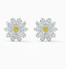 Swarovski Eternal Flower Stud Pierced Earrings, Yellow, Mixed Metal Finish