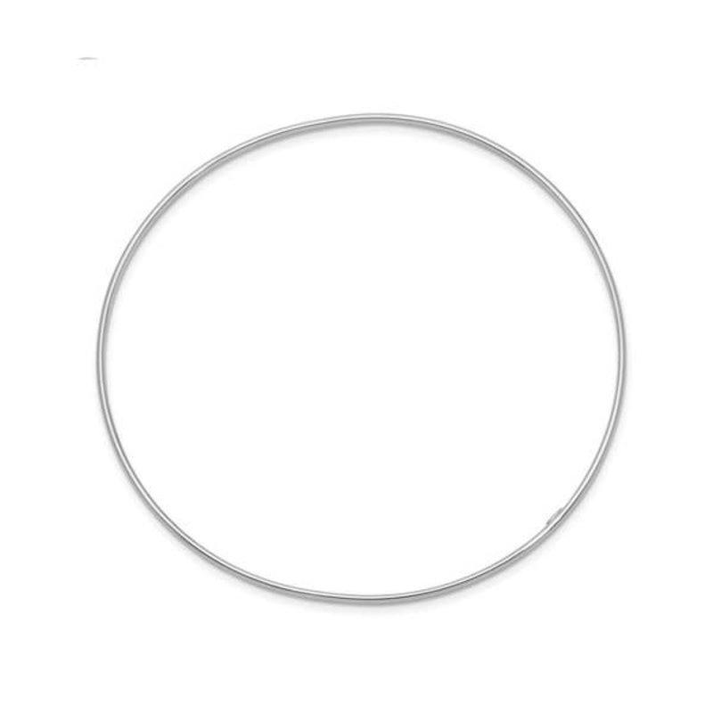 10K White Gold (2mm) Slip on Bangle