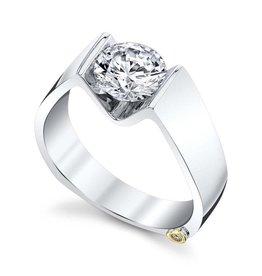 Mark Schneider Mark Schneider 14K White Gold Blissful Solitaire Diamond Semi Mount Engagement Ring