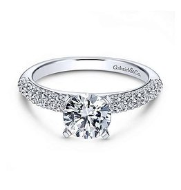 Gabriel & Co Gabriel & Co 14K White Gold Diamond Mount Engagement Ring