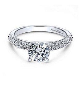Gabriel & Co Gabriel & Co Preston 14K White Gold Round Diamond Semi Mount Engagement Ring